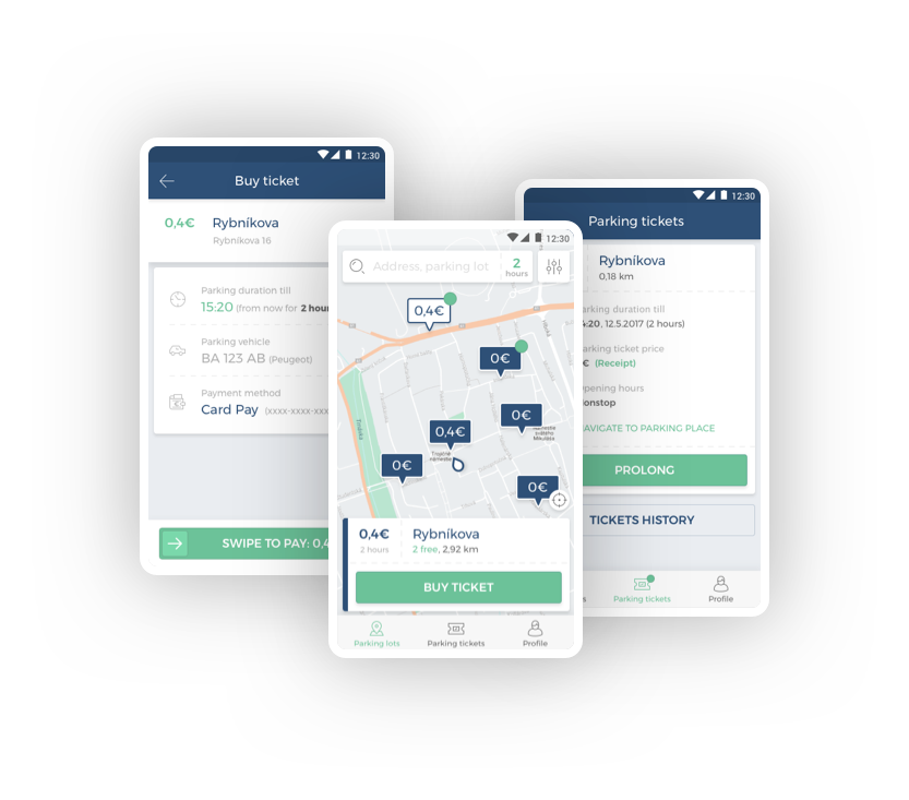 Easy and safe parking with ParkDots